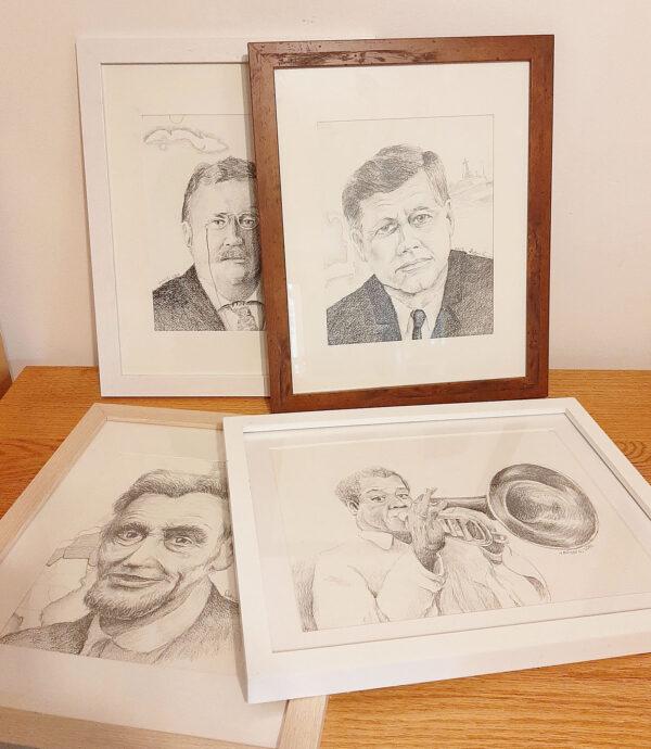 Framed Pencil Drawing